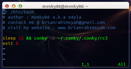 Bash Script Autostart Conky