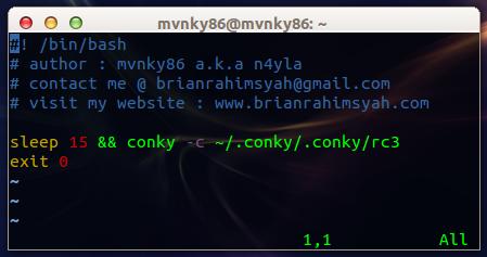 Bash Script Autostart Conky