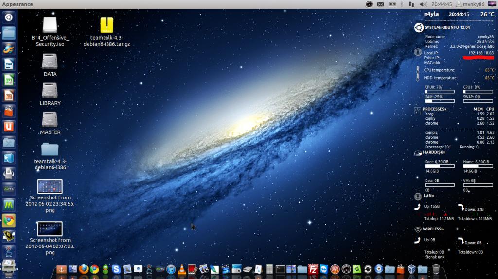 Conky Max 2 Core on Ubuntu 12.04 LTS