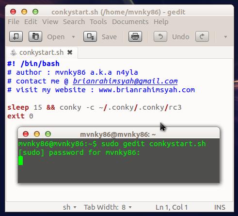 Script Autostart Conky