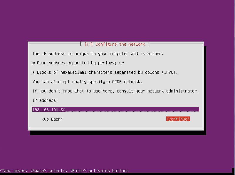 Insert IP Address