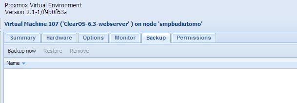 Backup Node Proxmox