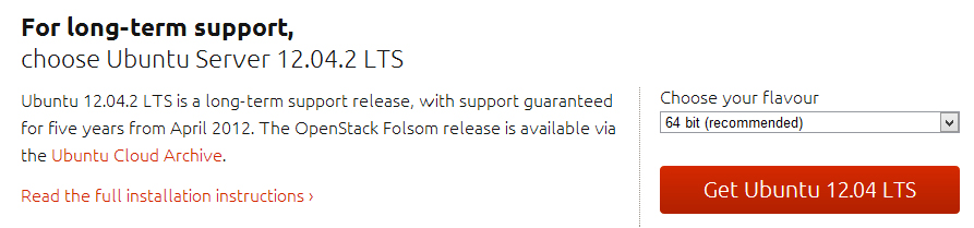 Download Ubuntu Server 12.04.2 LTS