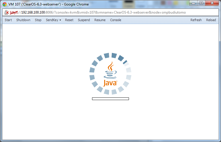 Console start always run java