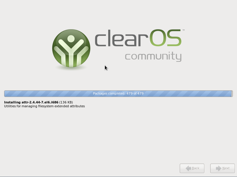 ClearOS 6.3 installation in progress