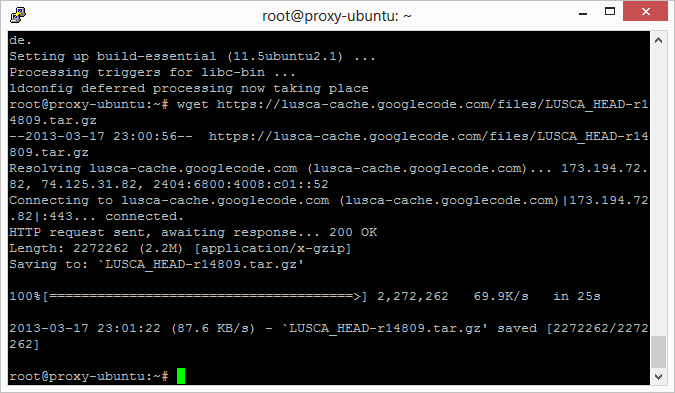 Download LUSCA HEAD r14809 wget