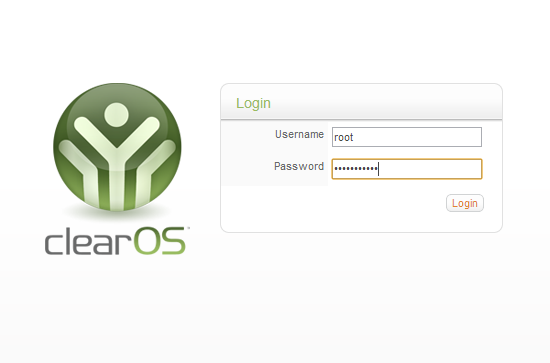 Login to ClearOS 6.3