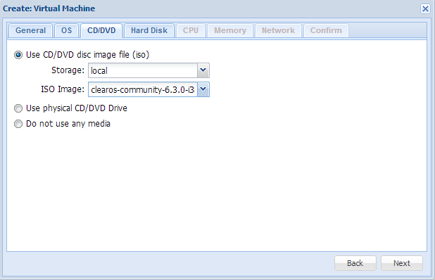 Create virtual machine ISO images
