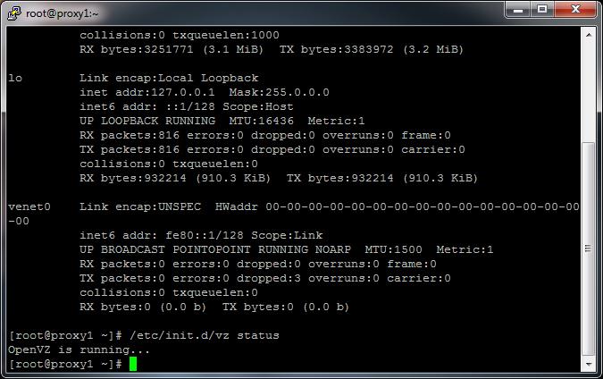 OpenVZ is Running