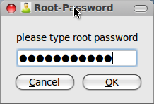 insert root password