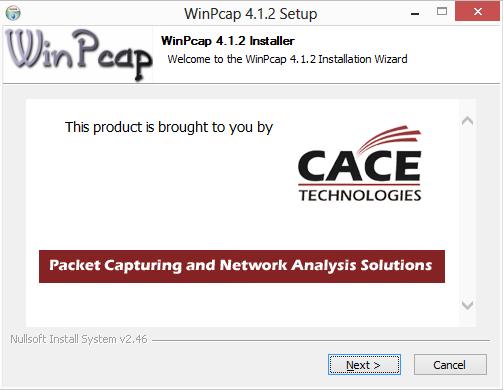 winpcap setup