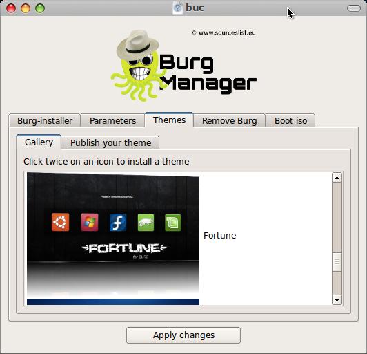 burg themes install