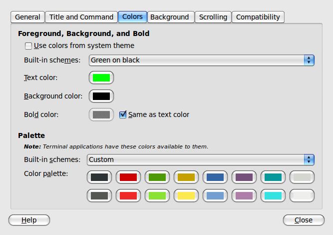 changes colors terminal macbuntu backtrack 5R3