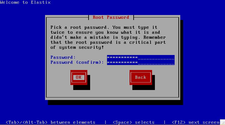 insert root password