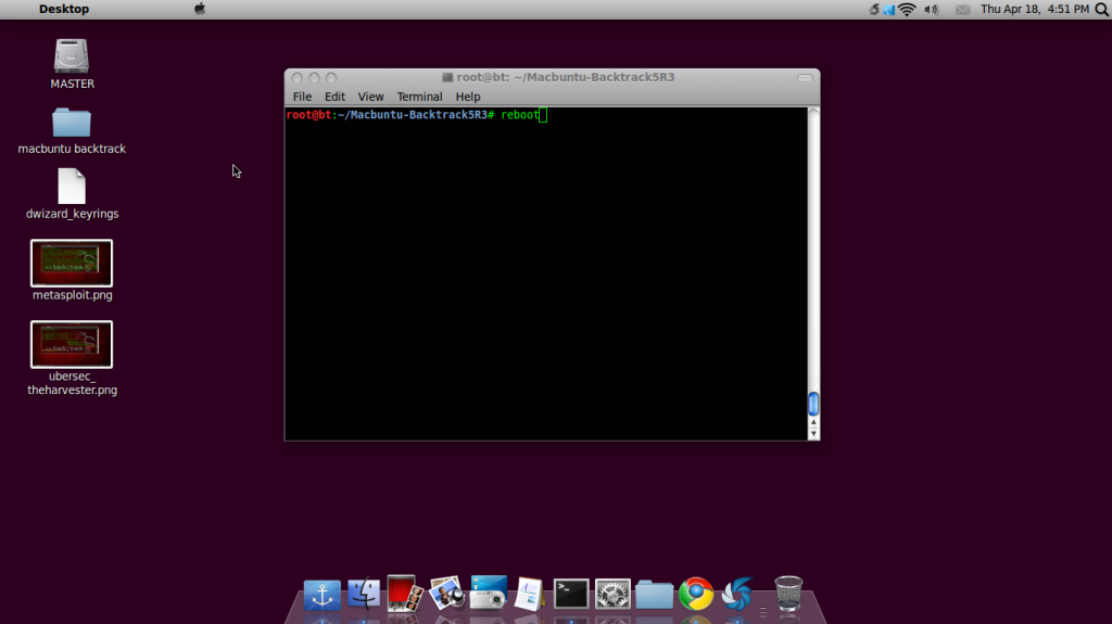 changes macosx themes on backtrack 5R3