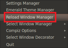 reload window manager
