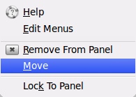move menu to left