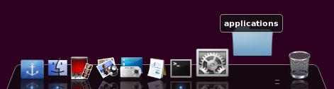 Editing docky Mac OSX themes Backtrack 5R3 application add to dock