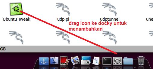 Editing docky Mac OSX themes Backtrack 5R3 application add shortcut to dock