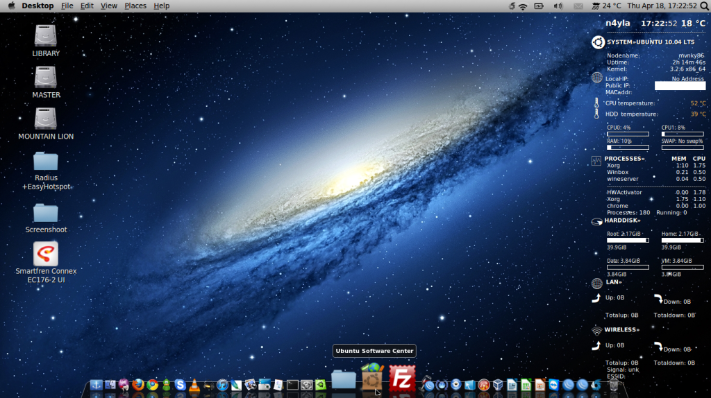 Mac OSX themes on Backtrack 5R3