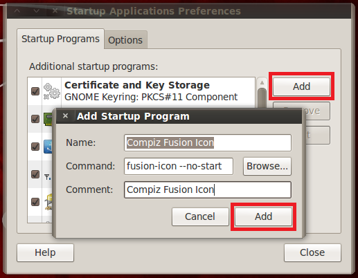 add autostart compiz backtrack5 R3