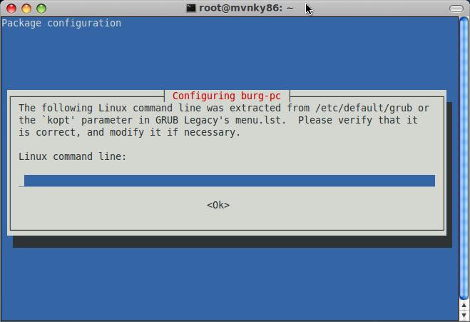 configuring burg-pc
