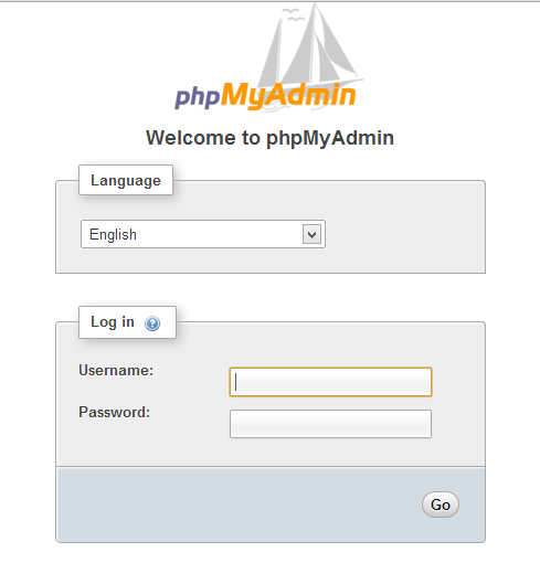 phpmyadmin login fix