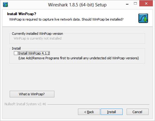 dont install winpcap