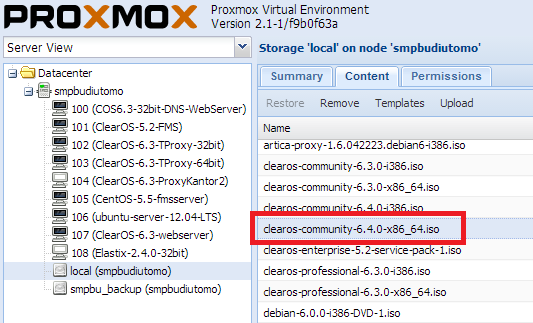 how to upload iso image to proxmox ve