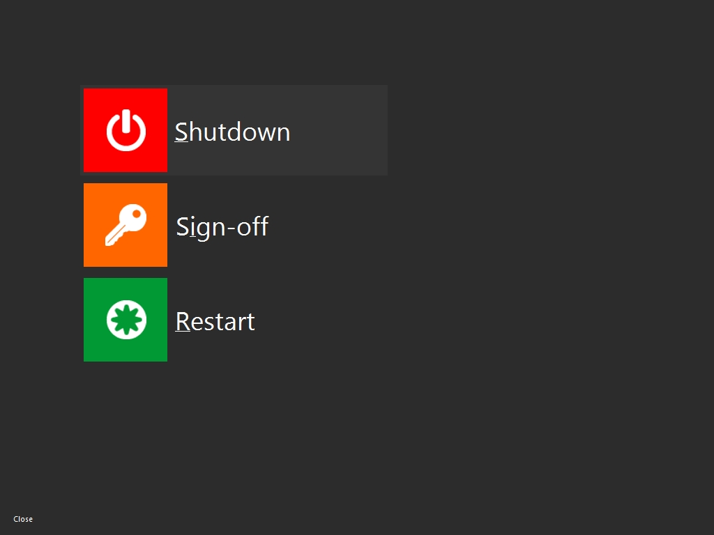 fix shutdown restart windows8