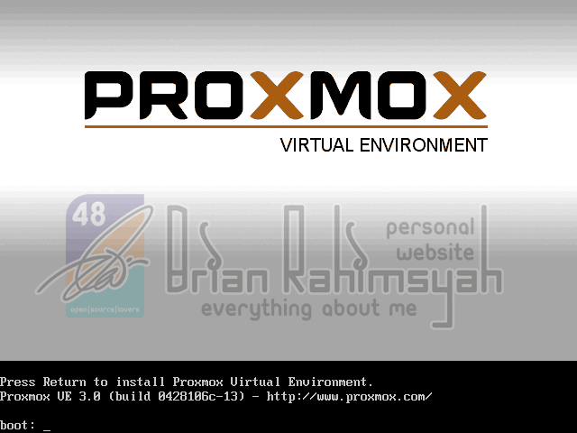 Proxmox 3.0 installation Booting
