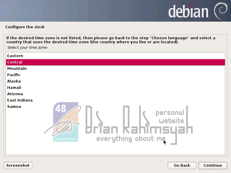 Debian 7 configure clock