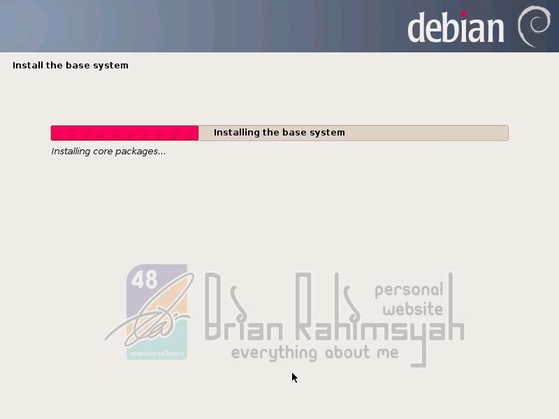 Debian 7 installing base system