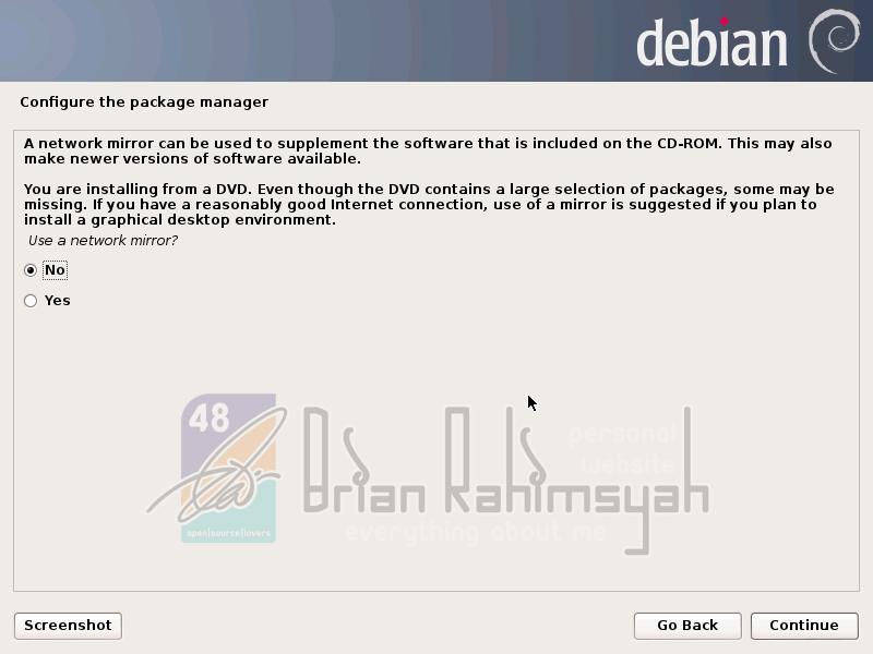 Debian 7 use network mirror no