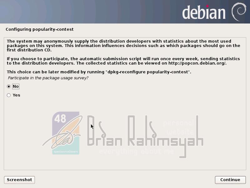 Debian 7 participate popularity contest no