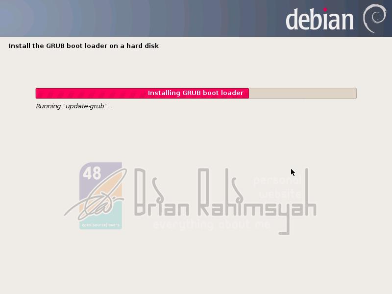 Debian 7 installing GRUB on system