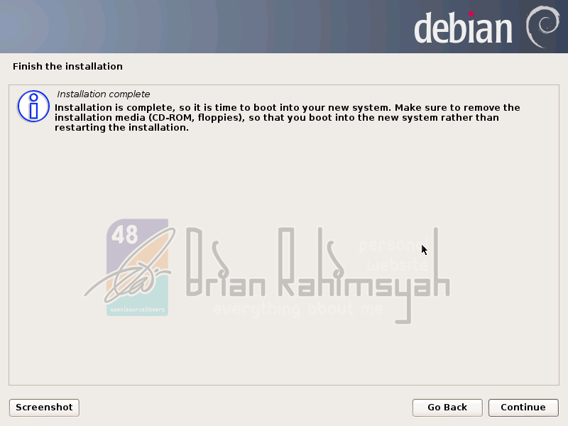 Debian 7 intallation complete