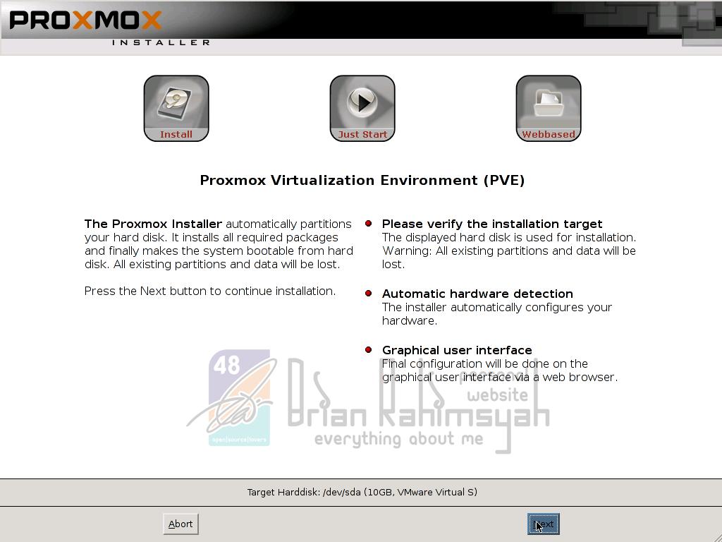 Proxmox  3.0 target installation