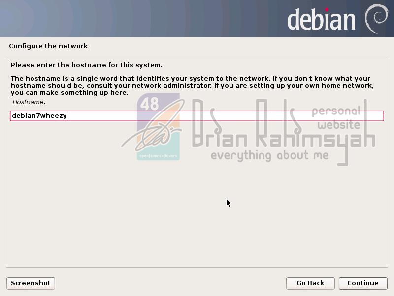 Debian 7 hostname