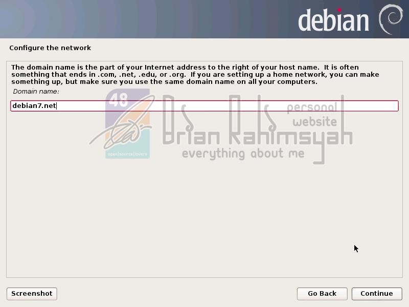 Debian 7 domain name