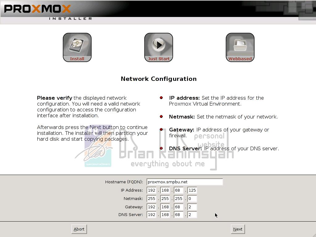 Proxmox 3.0 network configuration