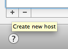 Create new host