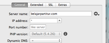 Klik to go to your localhost-website-MAMP