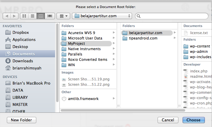 Document root your virtualhost