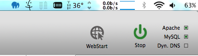 Indicator webserver is running
